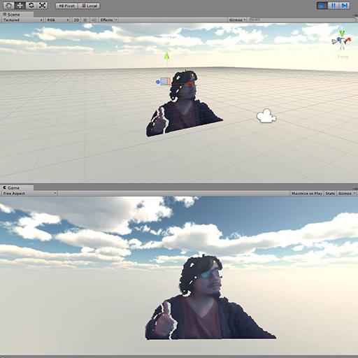 Croma con Kinect sin clave de cromacidad